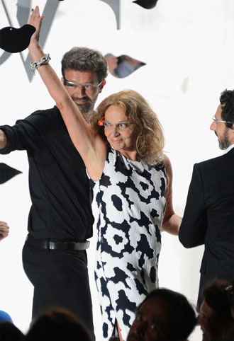 Google Glass at Diane Von Furstenberg