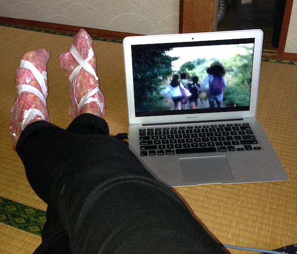 baby foot peel in proccess