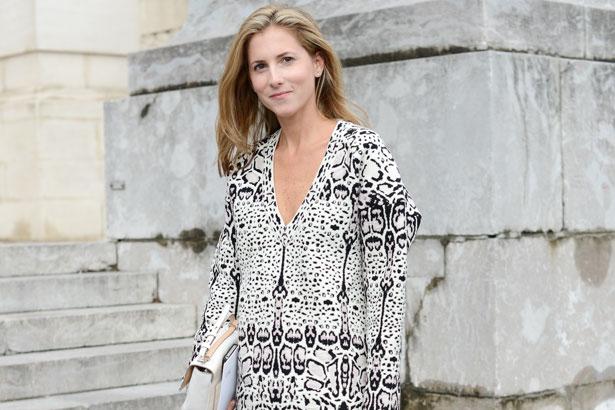 Marina Larroude wears Alaia dress