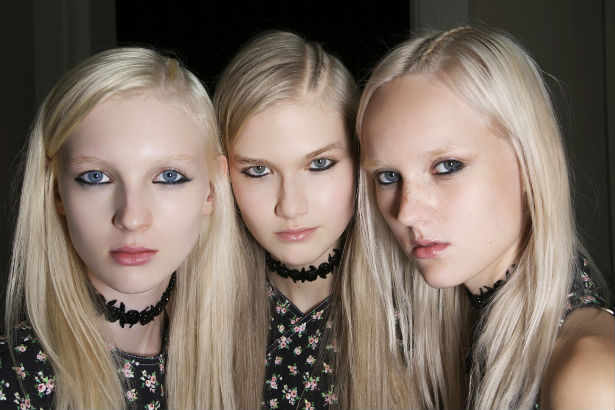 backstage beauty at Carven