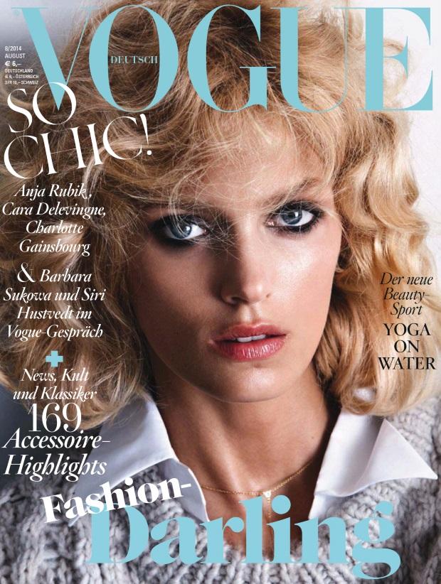 Vogue Germany August 2014 Anja Rubik Camilla Akrans