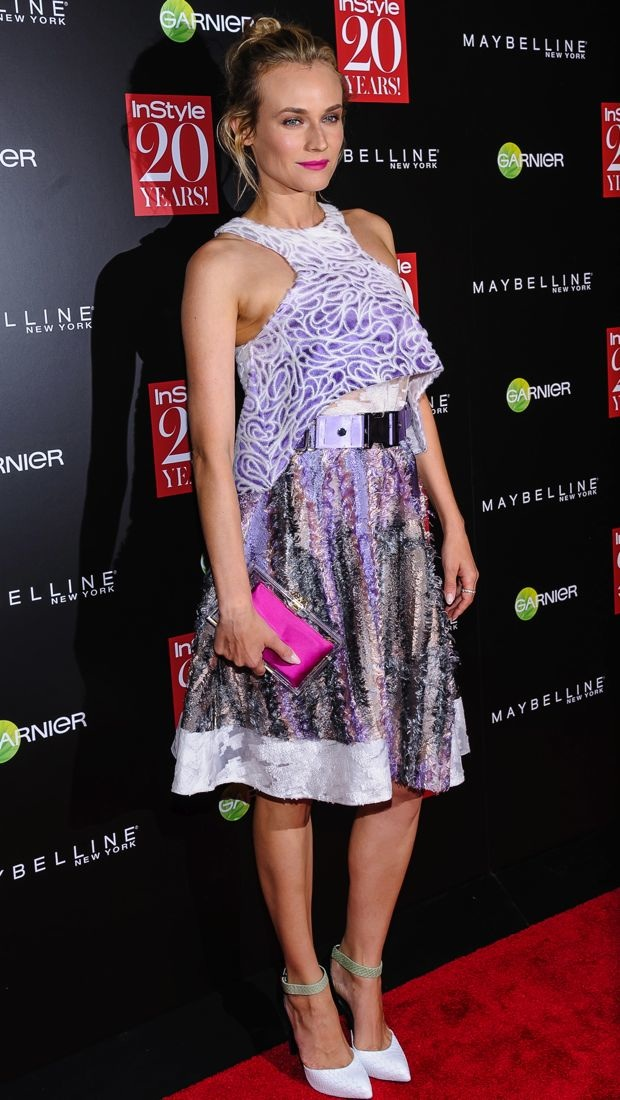 Diane Kruger wears a Prabal Gurung Spring 2015 look