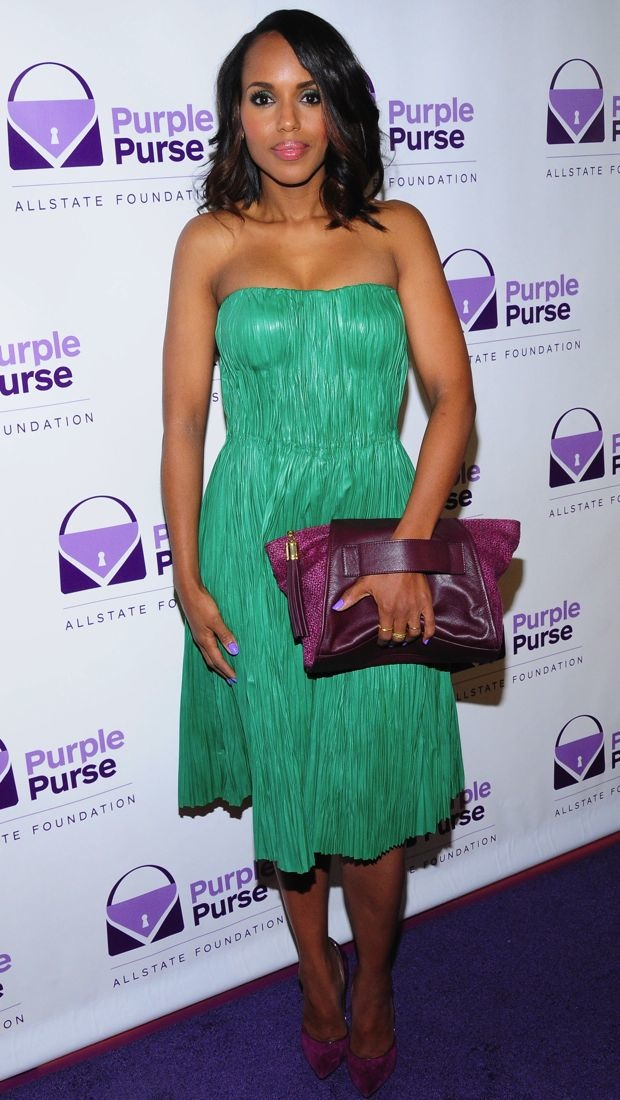 Kerry Washington clashes for a good cause in Alexander McQueen