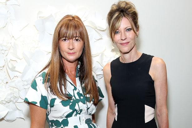 Kate Spade Chief Creative Officer Deborah Lloyd and ELLE Editor-in-Chief Robbie Myers at Kate Spade Spring 2015