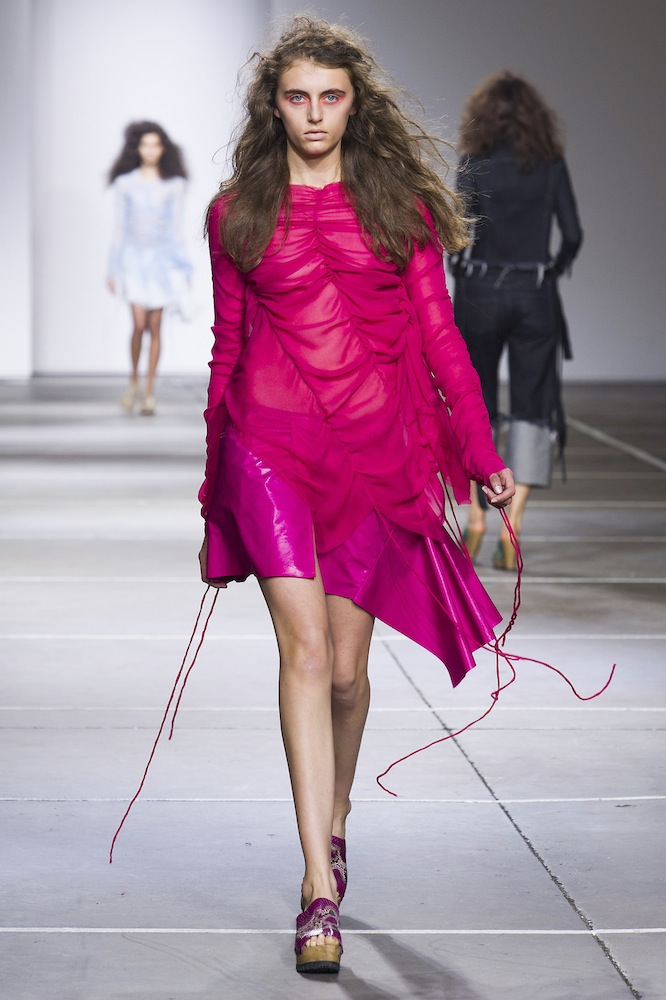 A look from Marques'Almeida Spring 2015 via Imaxtree