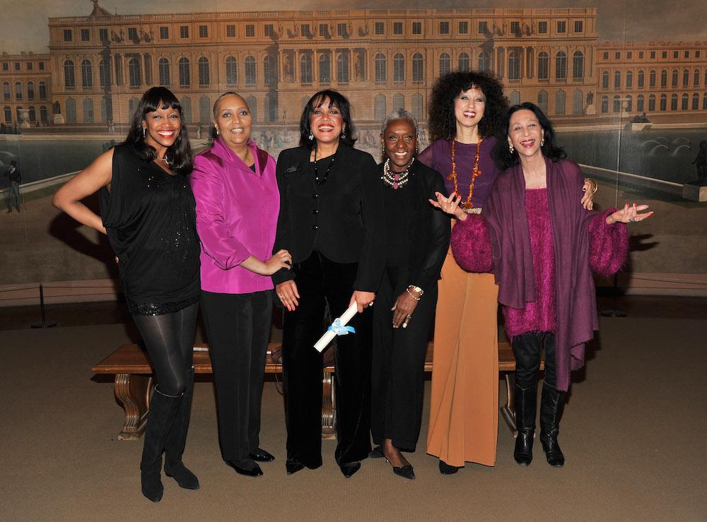 Versailles runway models Amina Warsuma, Charlene Dash, Norma Jean Darden, Bethann Hardison, Pat Cleveland and China Machado attend the Tribute To The Models Of Versailles 1973 event at The Met in 2011; Image: Getty