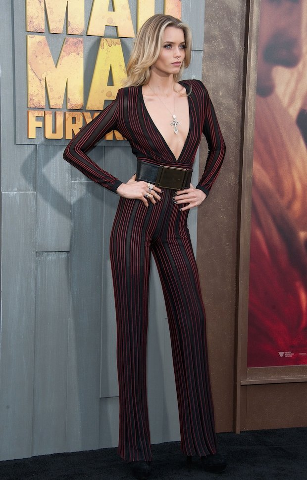 Abbey Lee attends the premiere of Warner Bros. Pictures 'Mad Max: Fury Road'
