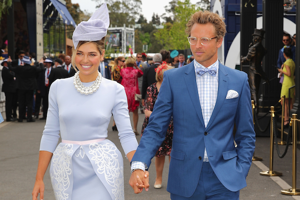 Ashley Hart and Buck Palmer at Melbourne Cup