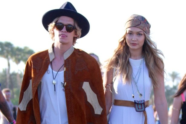 Cody Simpson and Gigi Hadid at Coachella