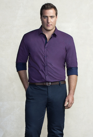 Jesse McNeilly models for Johnny Bigg