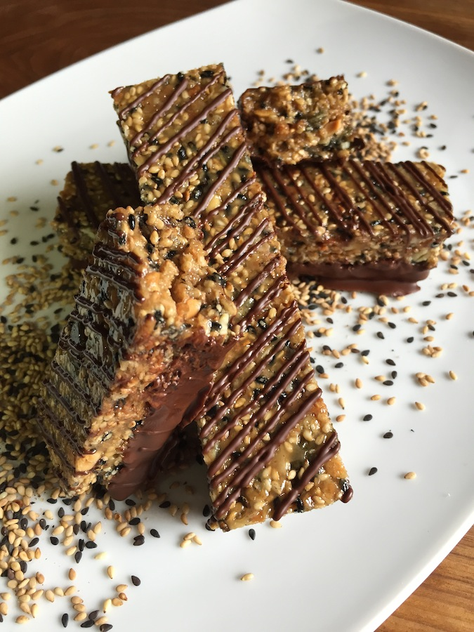 Sesame granola bars by Chef Thiago Silva 2