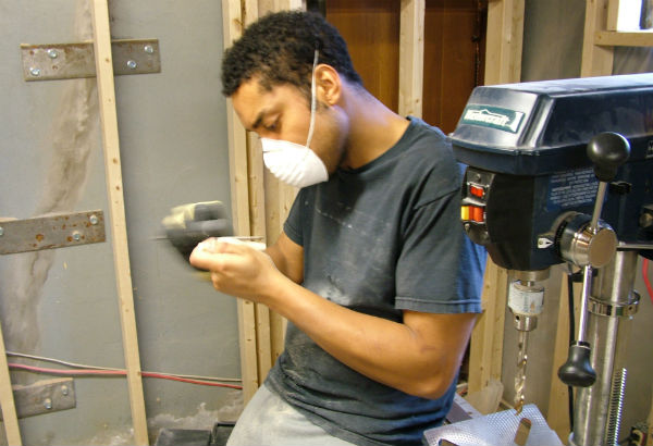 Sidney Molepo Working At His Atelier