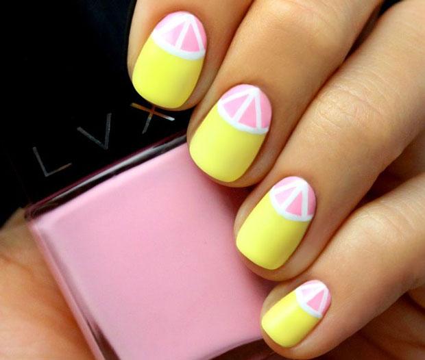 grapefruit-memorial-day-summer-nail-art-ideas