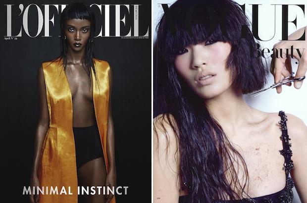 Riley Montana via L'Officiel Singapore; Chiharu Okunugi via Vogue Japan