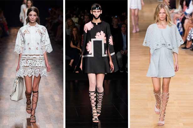 Valentino, Alexander McQueen, Chloe Spring 2015