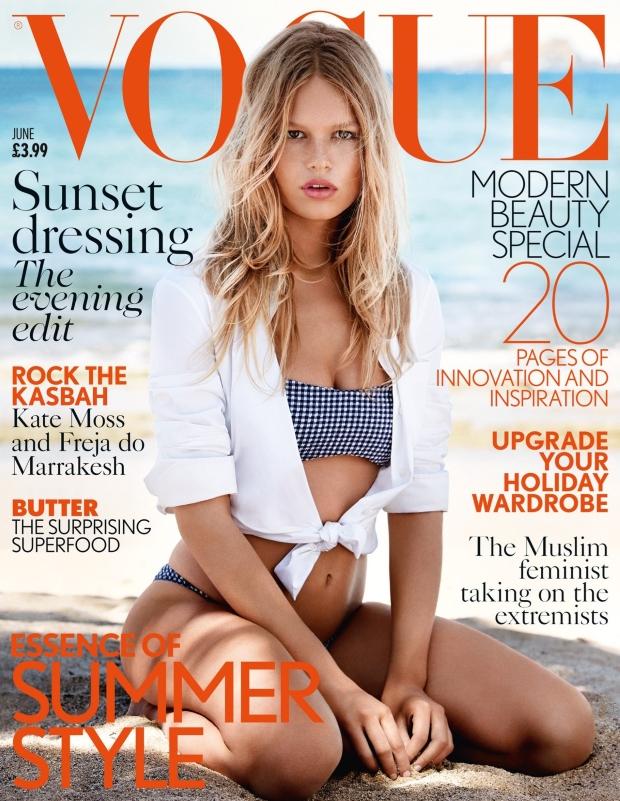 UK Vogue June 2015 Anna Ewers by Patrick Demarchelier