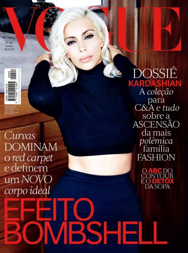 Vogue Brazil June 2015 Kim Kardashian by Ellen von Unwerth