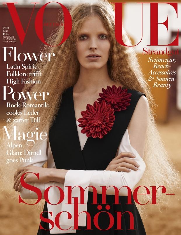 Vogue Germany June 2015 Alisa Ahmann by Giampaolo Sgura