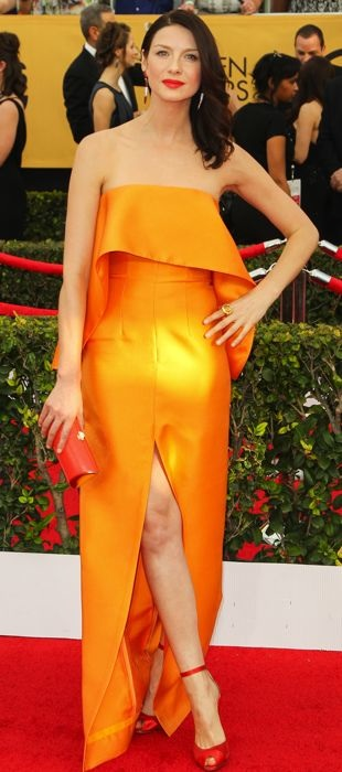 Caitriona Balfe in Solace London at the 2015 SAG Awards