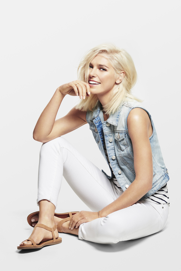 Ashley Hart poses for Just Jeans