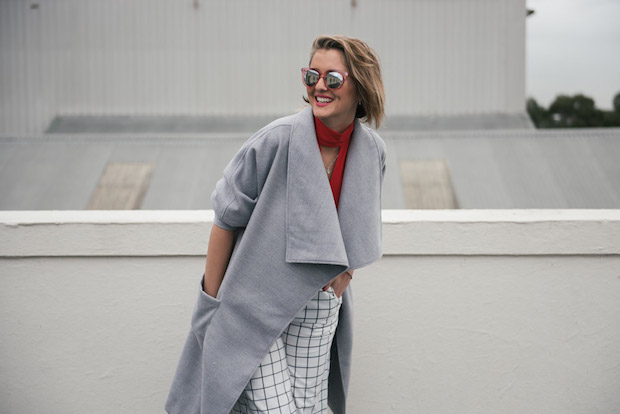 KLP wears Bec & Bridge crop, Alice in the Eve at General Pants Co. Pants, The Fifth Coat, Seafolly Sunglasses