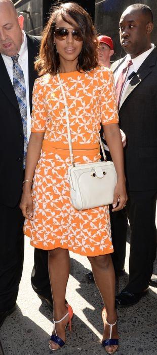 Kerry Washington in Tanya Taylor at Good Morning America