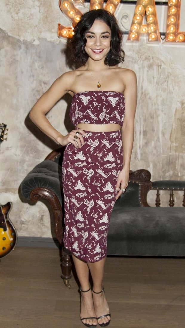 Vanessa Hudgens wears a rodeo print For Love & Lemons outfit