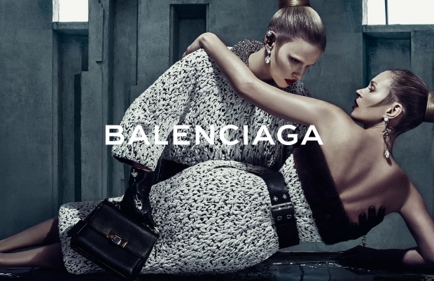 Balenciaga Fall 2015 Ad Campaign Kate Moss & Lara Stone