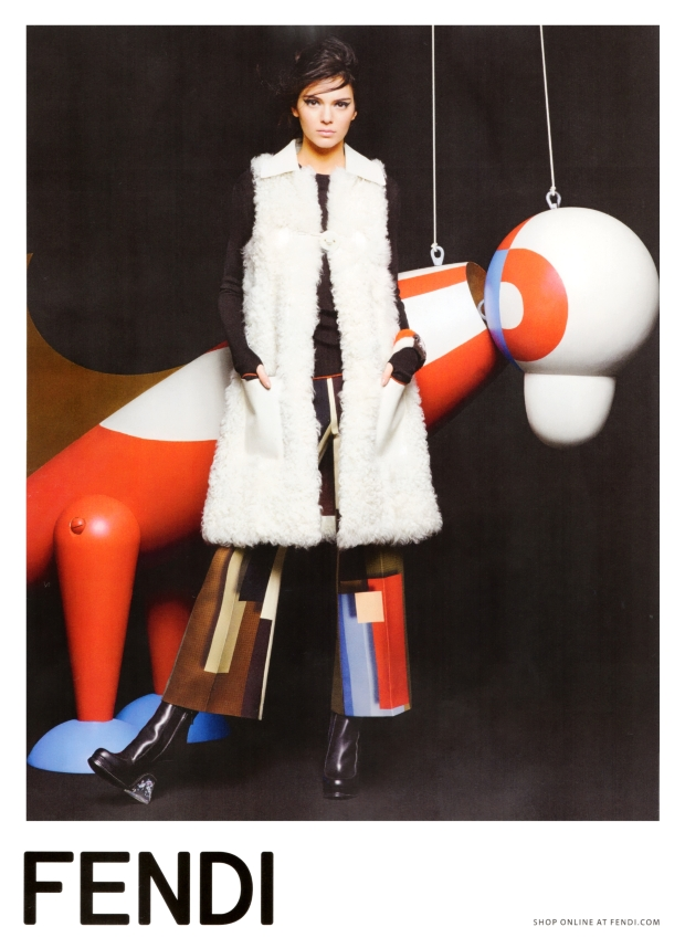 Fendi Fall 2015 Ad Campaign Kendall Jenner by Karl Lagerfeld