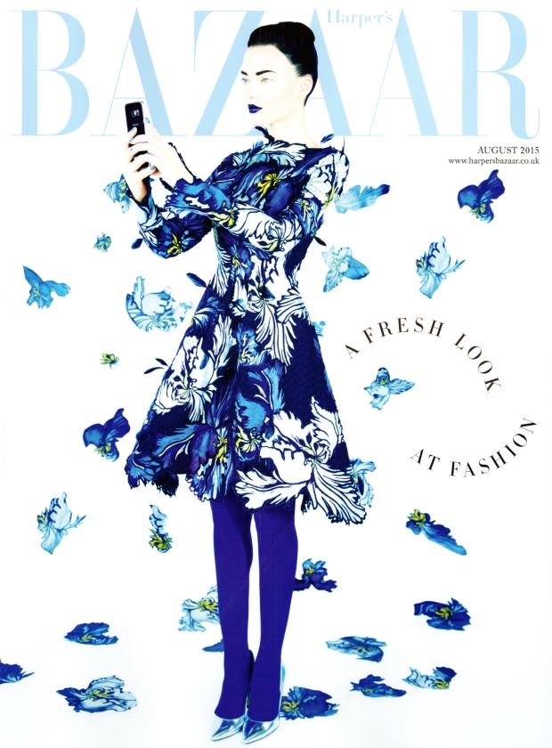 UK Harper's Bazaar August 2015 Naty Chabanenko