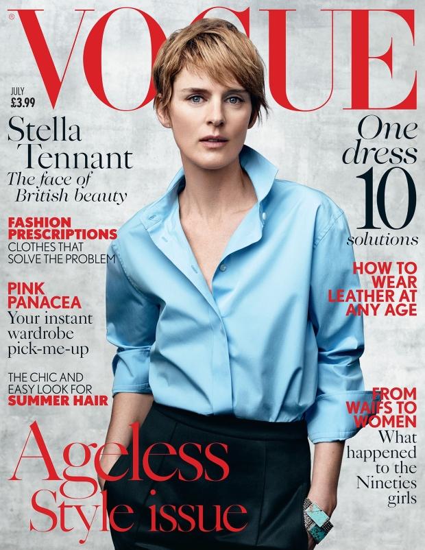 UK Vogue July 2015 Stella Tennant