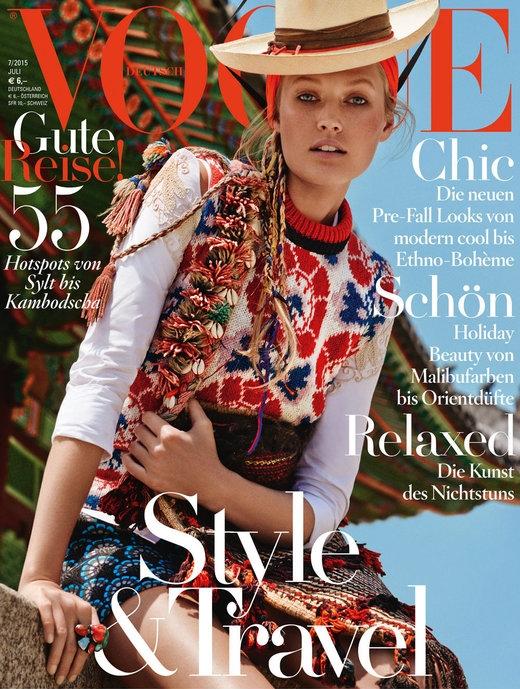 Vogue Germany July 2015 Toni Garrn by Giampaolo Sgura