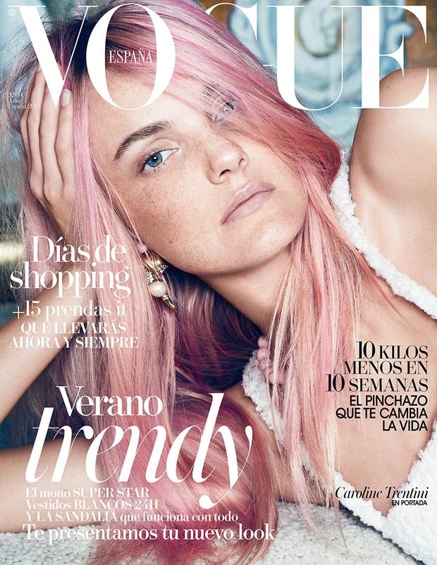 Vogue Spain July 2015 Caroline Trentini by Paola Kudacki