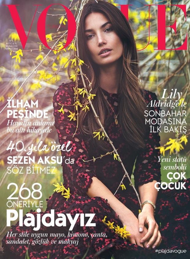 Vogue Turkey July 2015 Lily Aldridge by David Bellemere