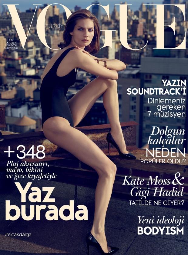 Vogue Turkey June 2015 Karolin Wolter by Miguel Reveriego