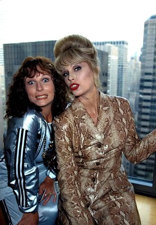 Eddy and Pasty pose for the camera in Absolutely Fabulous