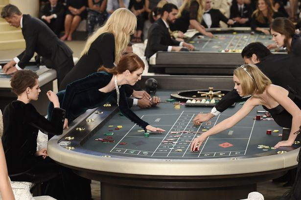 Stars at the Casino during Chanel Fall 2015 Couture show