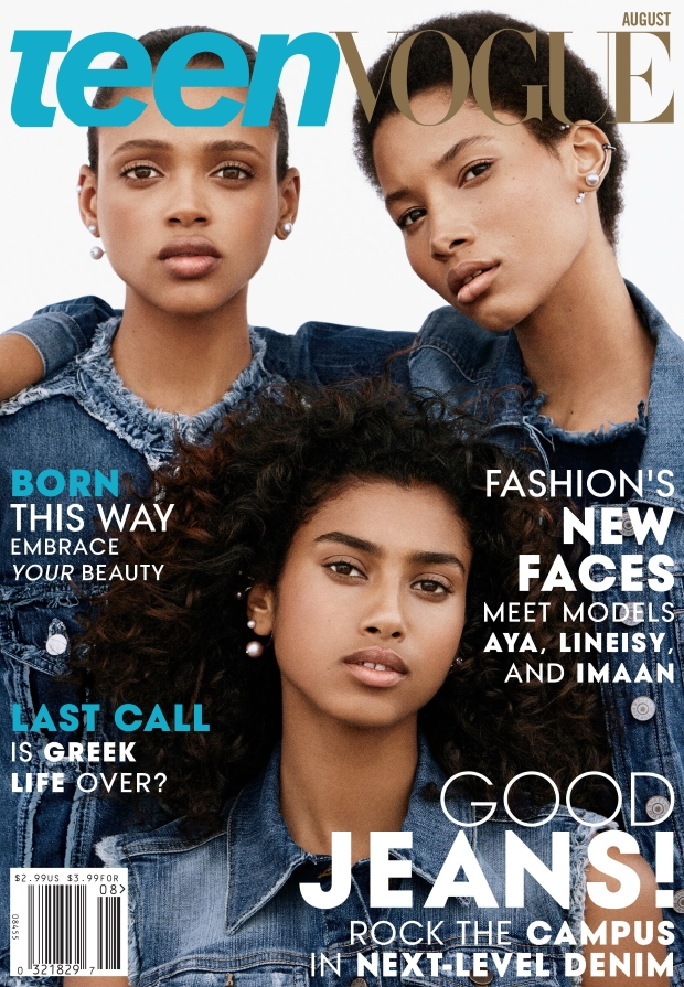 Teen Vogue August 2015 Aya, Imaan & Lineisy by Daniel Jackson