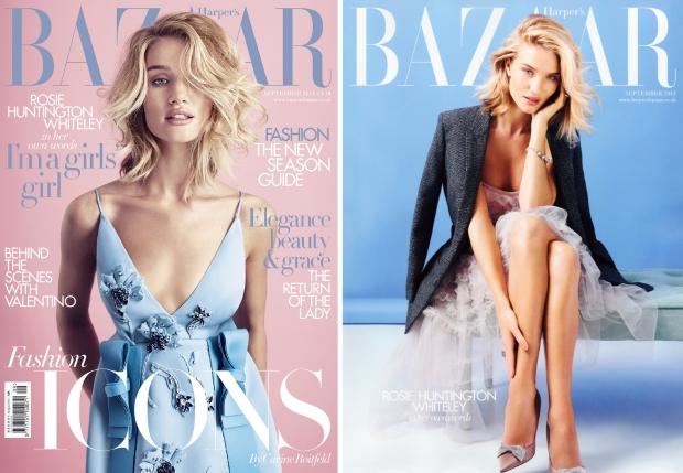 UK Harper's Bazaar September 2015 Rosie Huntington-Whiteley by Alexi Lubomirski