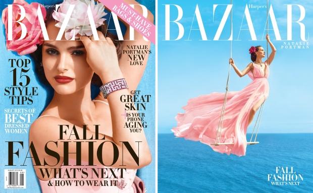 US Harper's Bazaar August 2015 Natalie Portman by Norman Jean Roy