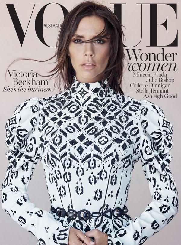 Vogue Australia August 2015 Victoria Beckham by Patrick Demarchelier