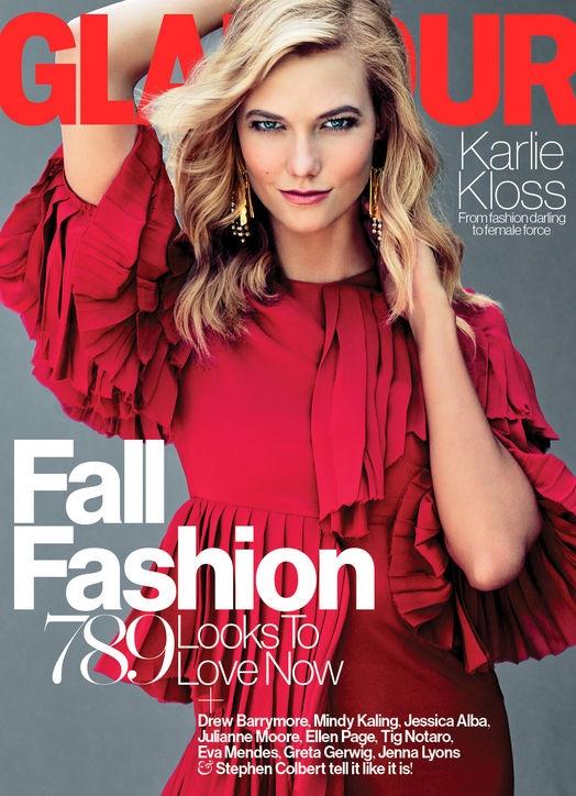 US Glamour September 2015 Karlie Kloss by Tom Munro