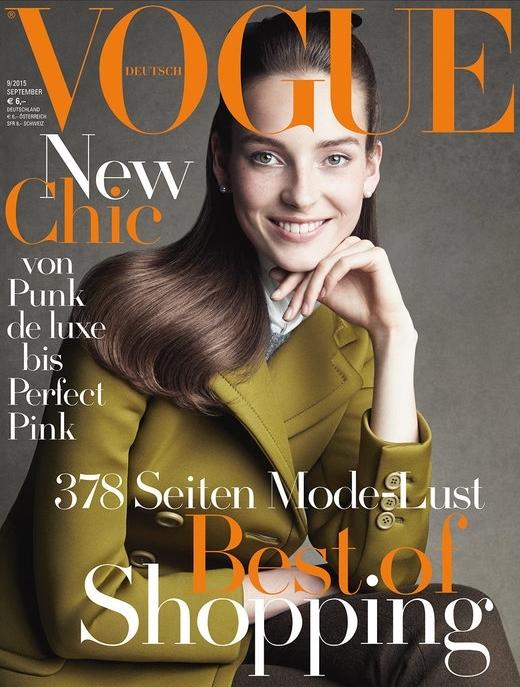 Vogue Germany September 2015 Julia Bergshoeff by Patrick Demarchelier