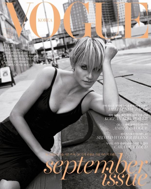 Vogue Korea September 2015 Amber Valletta by Scott Trindle