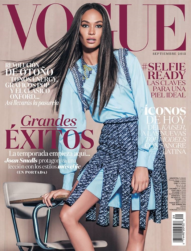 Vogue Mexico September 2015 Joan Smalls by Russell James