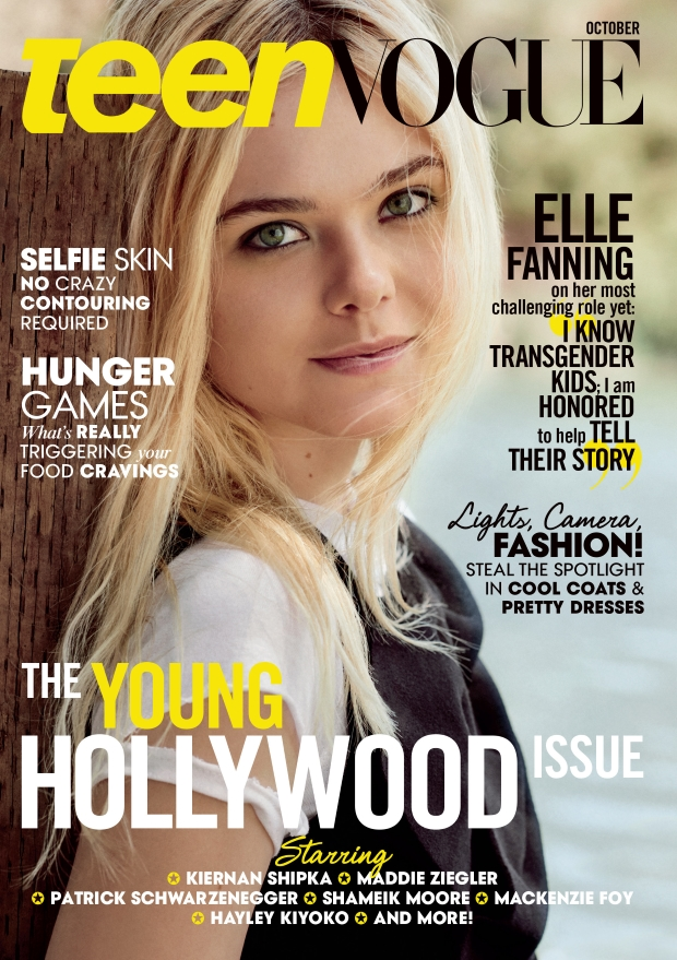 Teen Vogue October 2015 Elle Fanning by Christian Macdonald