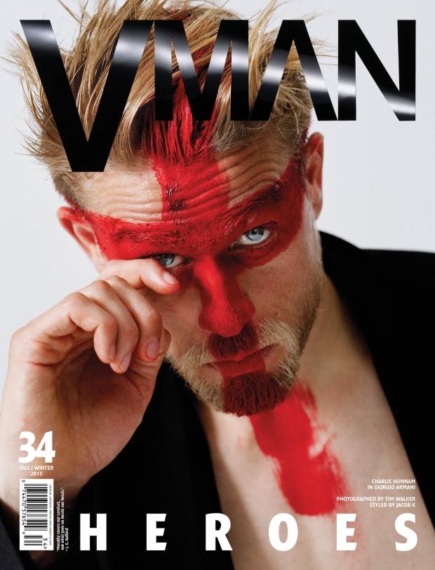 VMan #34 Fall 2015 Charlie Hunnam by Tim Walker