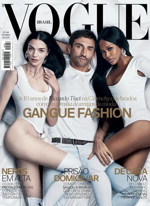 Vogue Brazil October 2015 Mariacarla, Naomi & Riccardo Tisci by Luigi & Iango