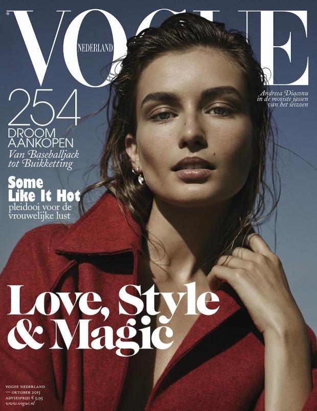 Vogue Netherlands October 2015 Andreea Diaconu by Annemarieke van Drimmelen