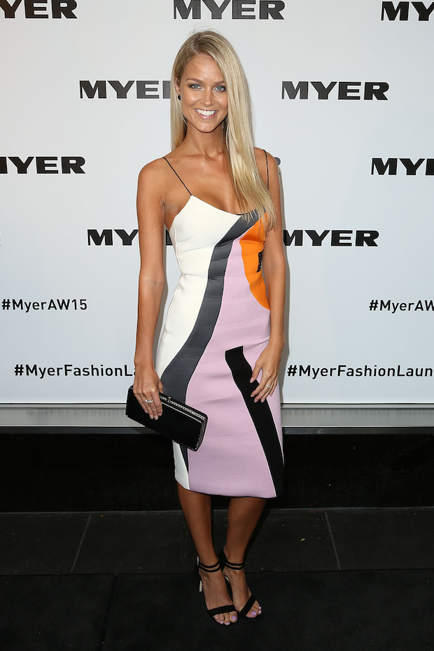 Renae Ayris at Myer launch